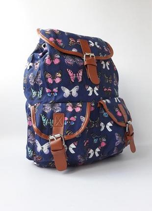 """Стильный женский рюкзак, тканевый рюкзак """"бабочки"""""""