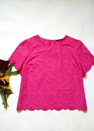 Хлопковая блуза топ с прошвой