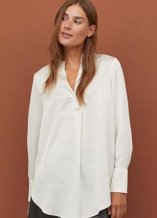 Блузка белая с красивой спинкой размер 8-10 new look