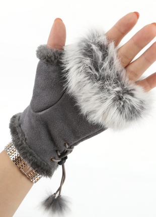 Митенки,полуперчатки,метенки,вязаные,вязка,перчатки без пальце...