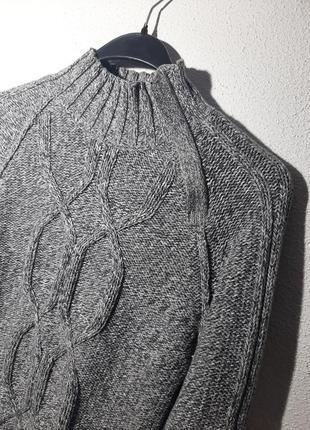 Вязаный свитер, кофта, горловина стойкой на замке