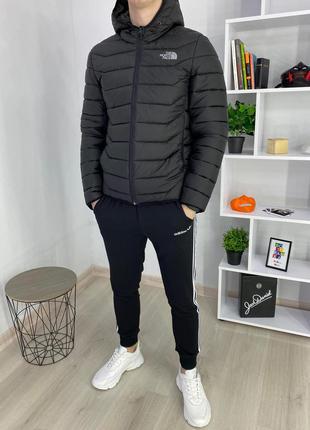 Мужская спортивная куртка короткая ТНФ черный