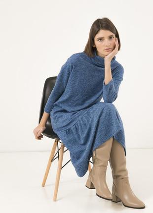 Комфортное платье на каждый день season голубого цвета