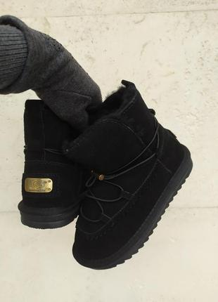 Sale! угги ботинки снегоходы сапоги черные на девочку