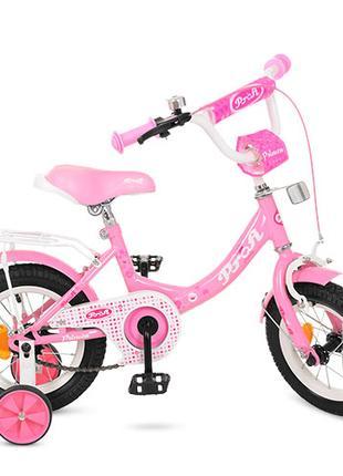 Детский велосипед 12 дюймов Profi Princess Y 1211, розовый