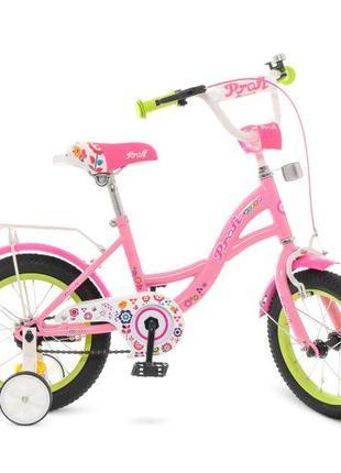 Детский велосипед 12 дюймов Profi Bloom Y 1221, розовый
