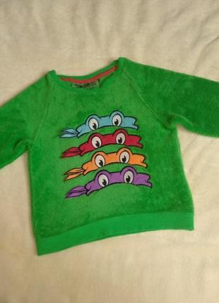 Кофта свитер свитшот теплый махровый