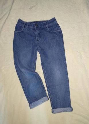 Модные штаны джинсы бойфренды с высокой посадкой