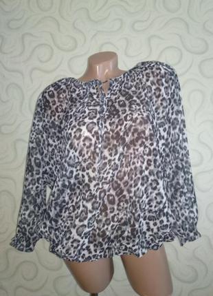 Блуза в актуальный принт
