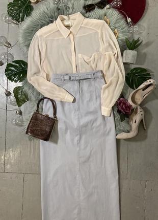 Актуальная макси юбка в спортивном стиле с поясом №35max