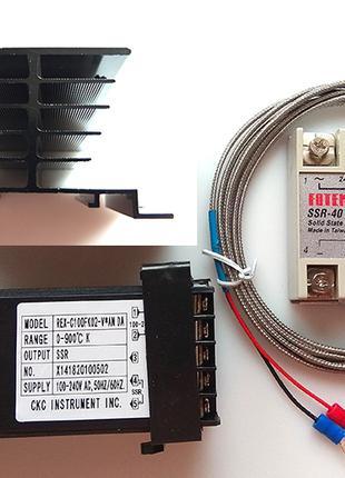 PID-регулятор REX-C100 REX-C100FK05 0-900° полный комплект