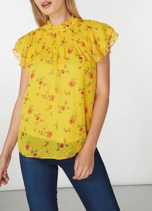 Очень красивая шифоновая блуза цветочный принт 18/52-54 размера