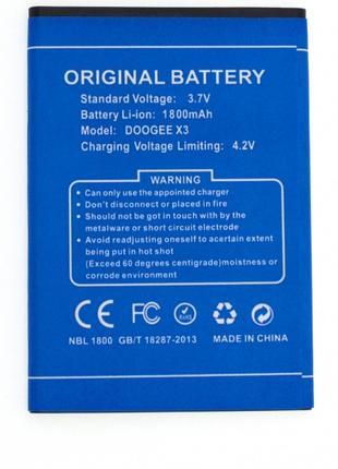 Акумулятор Doogee X3 1800 mAh, батарея оригінал Li-ion