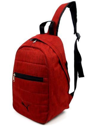 Темно красный тканевый спортивный рюкзак 38*22*14