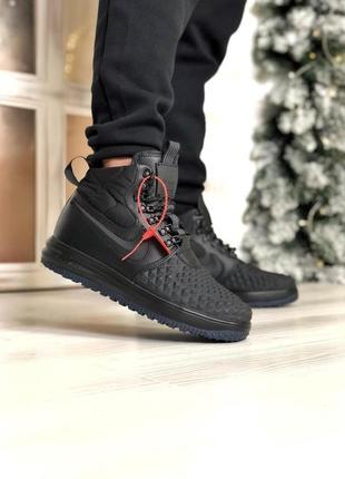 Мужские демисезонные кроссовки nike duckboot в черном цвете /о...