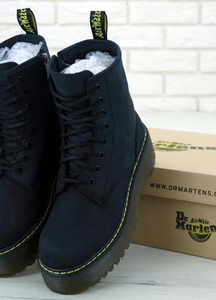 Демисезонные кожаные ботинки dr.martens jadon без меха /осень/...