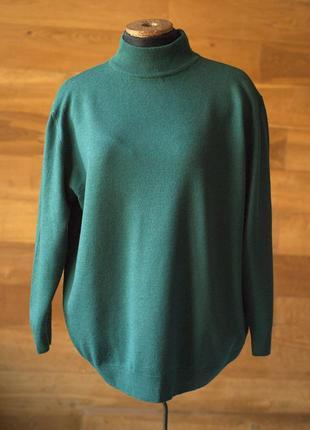 Шерстяной зеленый женский джемпер michele boyard (италия), раз...