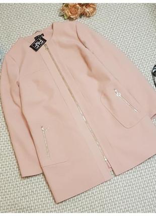Розовое пальто f&f на молнии