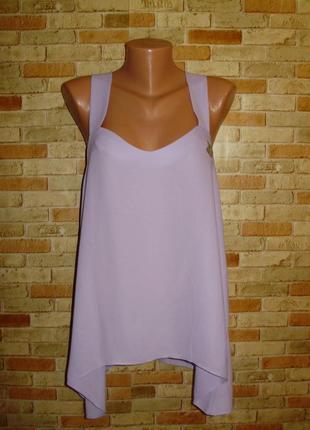 Новая шифоновая блуза-майка цвета лаванды 12/46-48 размера