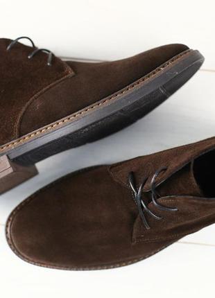Мужские коричневые замшевые демисезонные ботинки 42