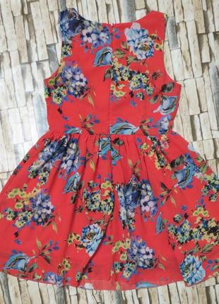 Летнее платье в цветах 10 размер большой выбор одежды, заходите!
