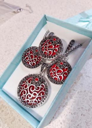 Набор керамика серебро 925 проба !!!арт. 516142-к.