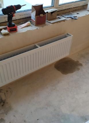 поставлю и подключу радиатор отопления водяной