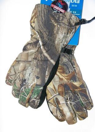 Перчатки зимние камуфляжные для охоты columbia phg horicon mar...