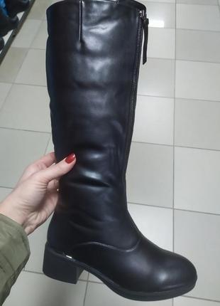Зимние женские сапоги каблук