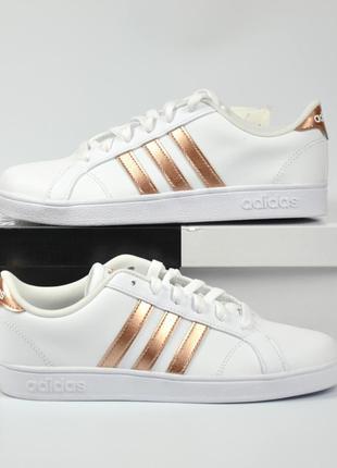 Adidas baseline белые кроссовки адидас из кожи оригинал