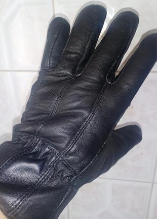 Кожаные, мужские перчатки