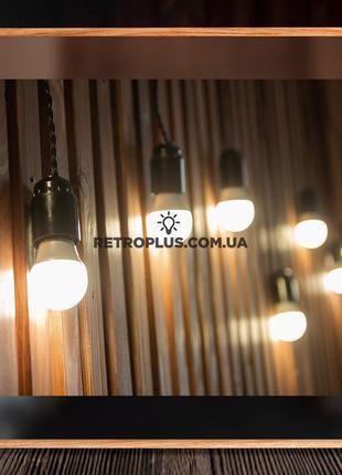 Ретро Гирлянда Сосулька с лампами белого свечения 4вт - гірлянда