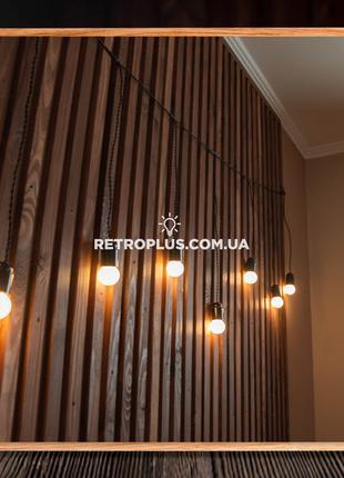 Ретро Гирлянда Сосулька с теплыми лампами 1.2вт - гірлянда