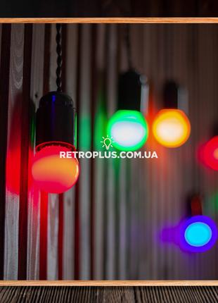 Ретро Гирлянда Сосулька с разноцветными лампами 1.2вт - гірлянда