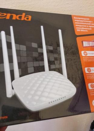WiFi роутер Tenda FH456 (N300, 1*Wan, 3*Lan, 4 антен) Мощный!