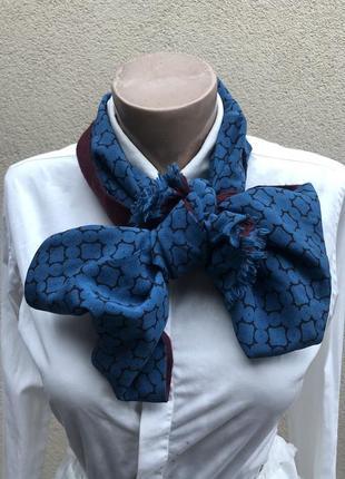 Двухсторонний,тонкий шарф,шерсть-шелк,унисекс,италия,