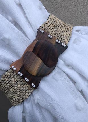 Эксклюзивный деревянный пояс-резинка,ремень ручной работы