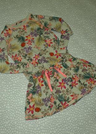 Платье цветы 6-7 лет