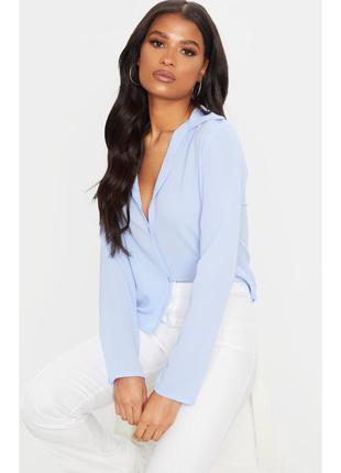 Рубашка нежно голубая