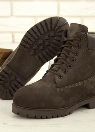 Ботинки мужские❄️timberland brown❄️зимние тимберленд, коричнев...