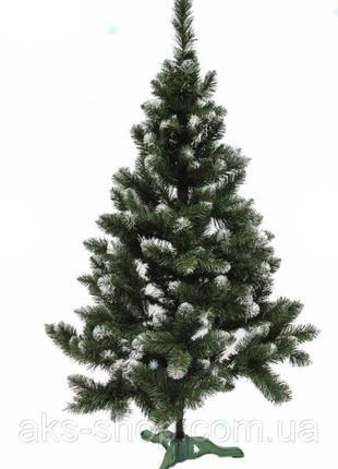 Искусственная елка 1 м Сказка ПВХ зеленая с белыми кончиками