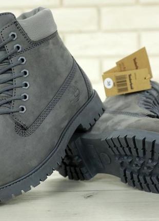 Ботинки мужские💠зимние💠тимберленд, серые с мехом timberland gr...