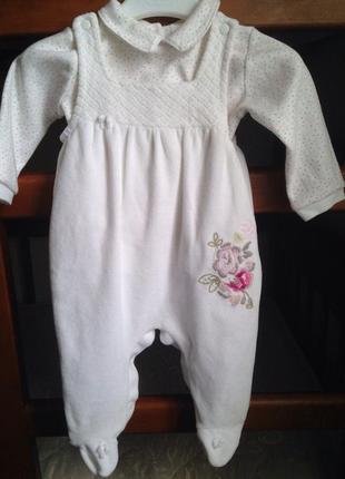 Нарядный костюм для девочки aziz bebe на 3-6 месяцев
