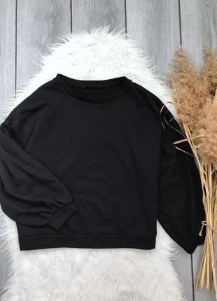 🔥акция 3=5🔥базовый чёрный свитшот кофта оверсайз с объемными р...