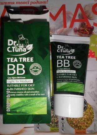 Тональный вв крем с маслом чайного дерева dr.tuna farmasi, 50м...