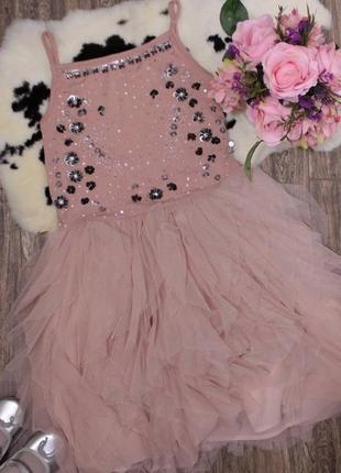 Обалденное нарядное пудровое платье