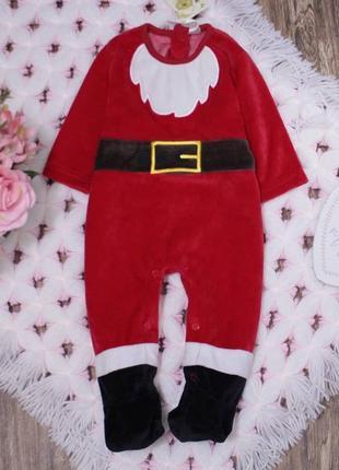Новогодний человечек костюм санты на малыша