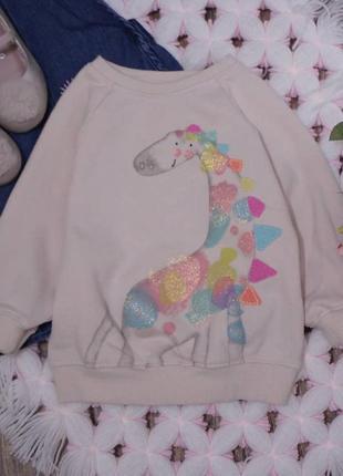 Свитшот с динозавром на девочку