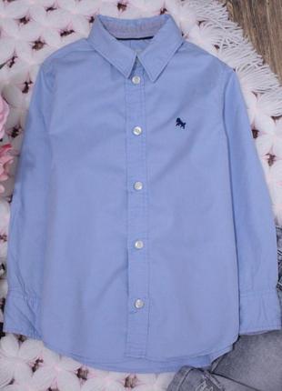 Классическая рубашка нежно-голубого цвета