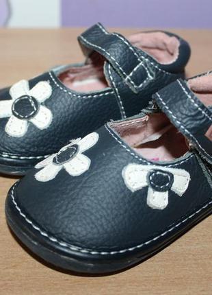 Фирменные кожаные туфли beppi baby по стельке 11 см